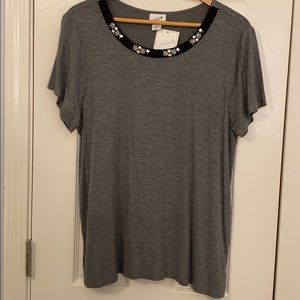 NWT Jaclyn Smith embellished top